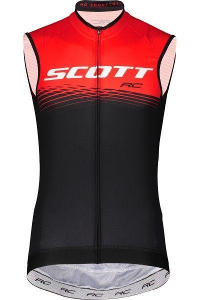 Scott RC PRO Radtrikot ärmellos schwarz rot 1