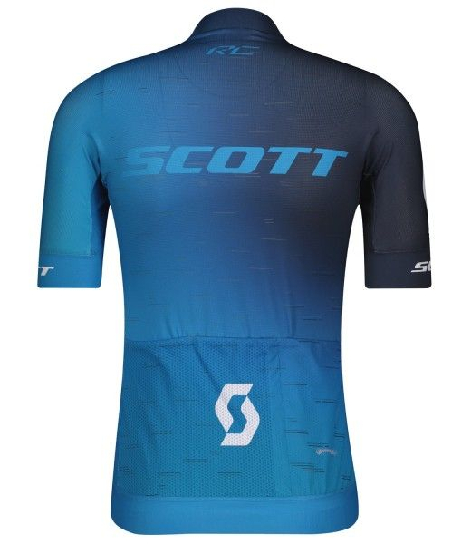 Scott RC PRO Radtrikot kurzarm blau/weiß 2
