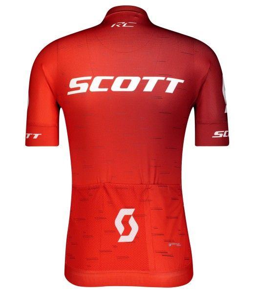Scott RC PRO Radtrikot kurzarm rot/weiß 2