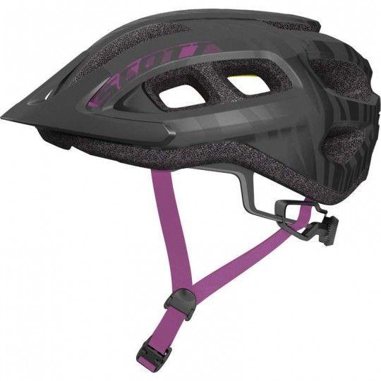 Scott SUPRA Fahrradhelm Damen schwarz lila 2