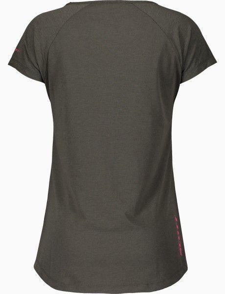 Scott TRAIL FLOW DRI womens short sleeve cycling jersey dark grey/azalea pink (270537)