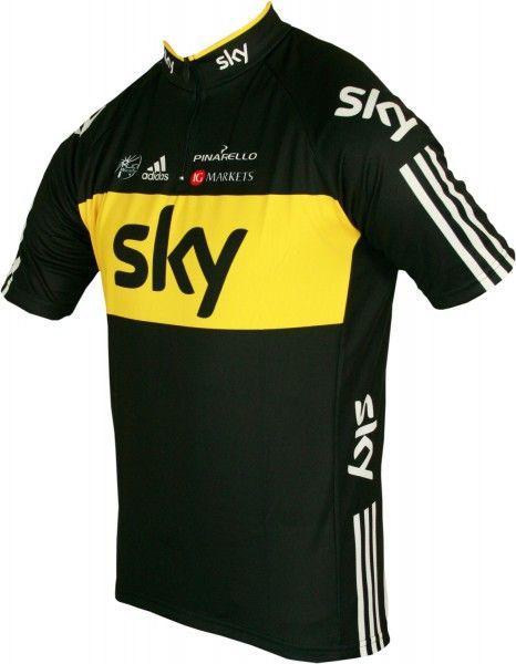 SKY Tour-Sieger Trikot  PRO CYCLING Kurzarmtrikot mit kurzem Reißverschluss - Radsport-Profi-Team Größe XXXXL (8)