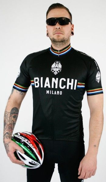 Bianchi Milano NEW PRIDE short sleeve cycling jersey black (E19-4000) size S (2)