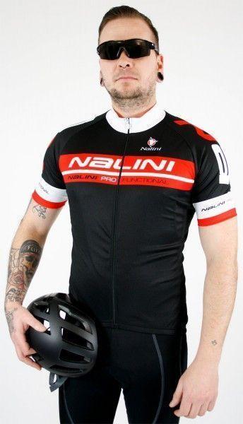 Nalini KENTY short sleeve cycling jersey black/red (E19-5100S)
