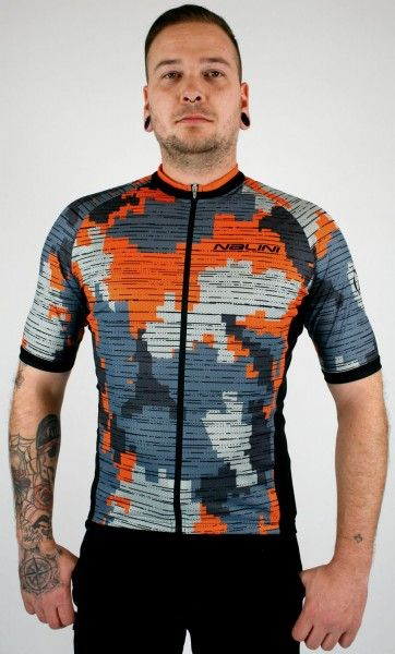 Studiobild Nalini CROSS 2.0 Radtrikot kurzarm orange/grau