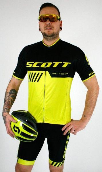 Studiobild Scott RC TEAM 10 Radsport-Set schwarz/neongelb