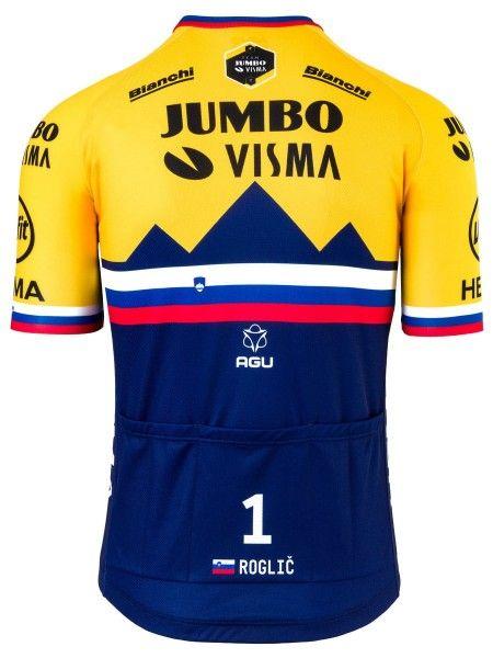 Team Jumbo - Visma slowenischer Meister 2020 Radtrikot kurzarm 2