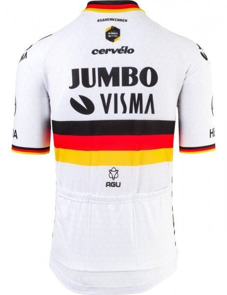 Maillot ciclista manga corta TEAM JUMBO - VISMA 2021 (campeón de Aleman) - AGU