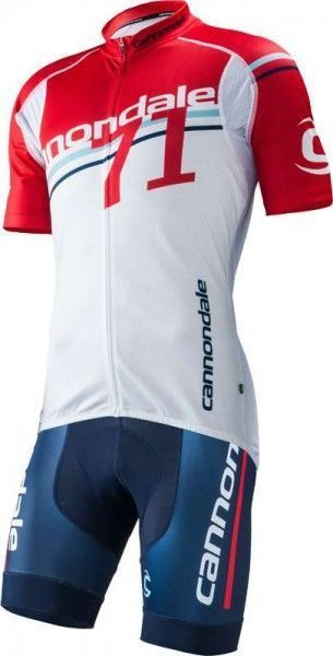 Cannondale TEAM71 short sleeve jersey for kids - white/red