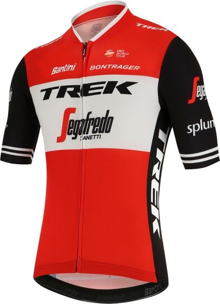 TREK - SEGAFREDO 2019 short sleeve cycling jersey (long zip) - Santini professional cycling team