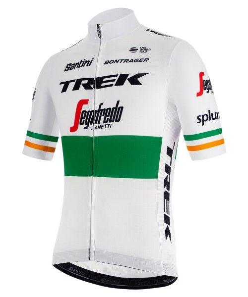 TREK - SEGAFREDO irischer Meister 2019 Radtrikot kurzarm (langer Reißverschluss) - Santini Radsport-Profi-Team Größe M (3)