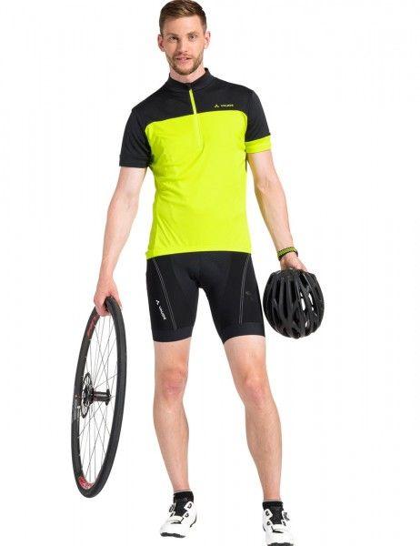 vaude men mossano t-shirt V Radtrikot kurzarm gelb grün 2