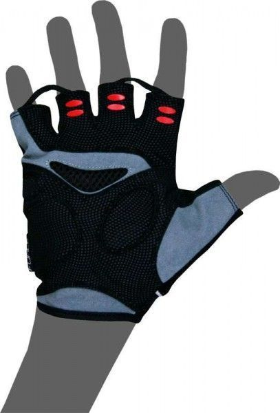 WILIER Gel-Kurzfingerhandschuh AMARA rot/schwarz Größe L (9)
