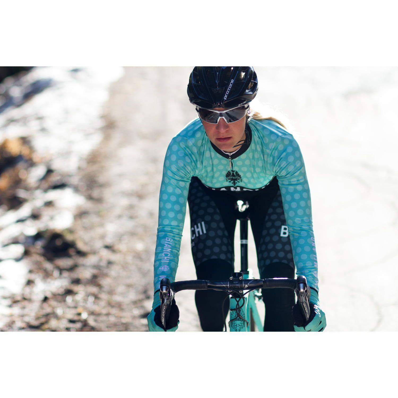 Bianchi Milano TERMENO womens long sleeve cycling jersey black celeste (I18-4300).  Next 696bb82b8