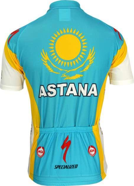 Astana 2010 Nalini professional cycling team - cycling jersey with short  zip. Next 3a3c7e60c