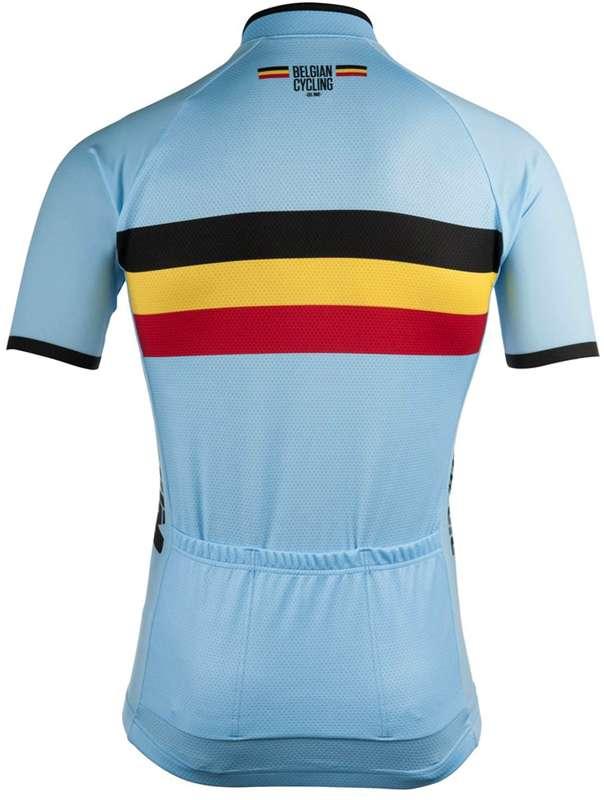 facee1a14 BELGIUM 2019 short sleeve jersey (long zip) - BioRacer national cycling team.  Next