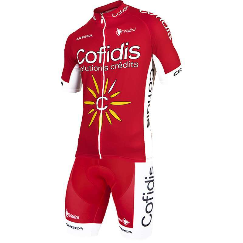 COFIDIS 2017 short sleeve jersey (long zip) - Nalini professional cycling  team. Next 520e95ab6
