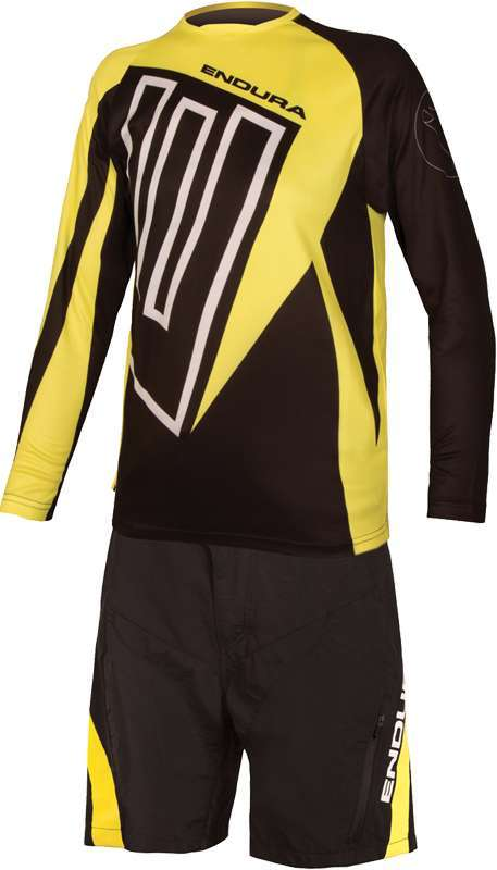 Endura MT500JR kids long sleeve cycling jersey black yellow (E7121BK). Next 2649357ba