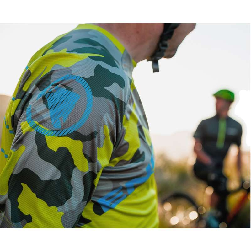 3ee3a617d Endura SINGLETRACK PRINT T - mtb freeride long sleeve cycling jersey  limegreen (E3126LG). Next