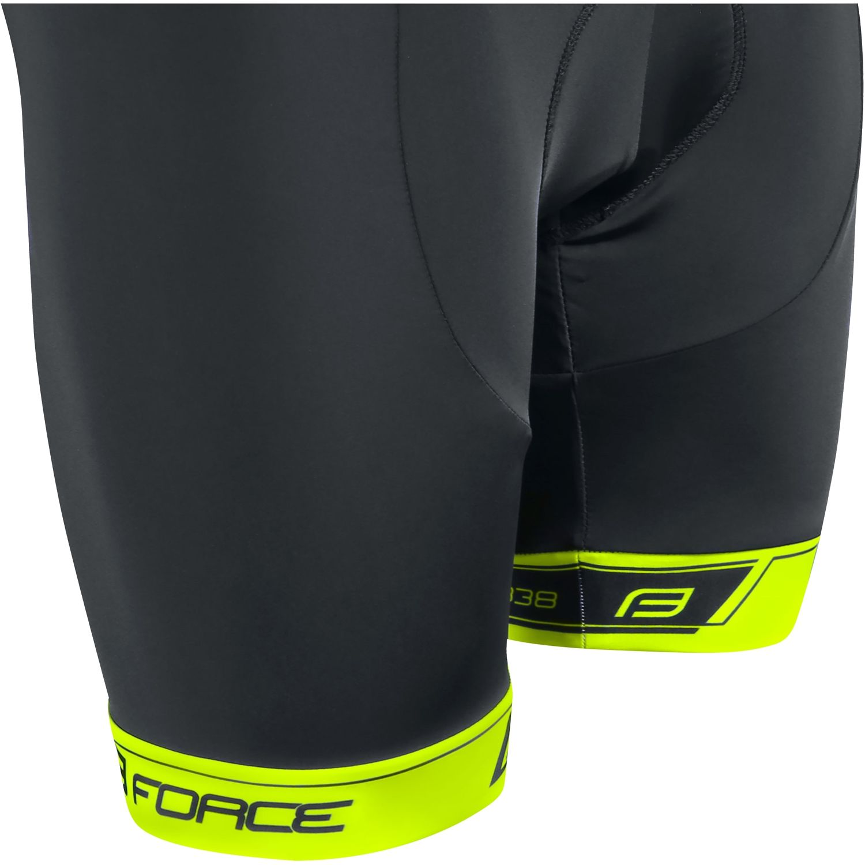 Force B38 cycling bib shorts black yellow fluo (900274). Next 3423ef16c