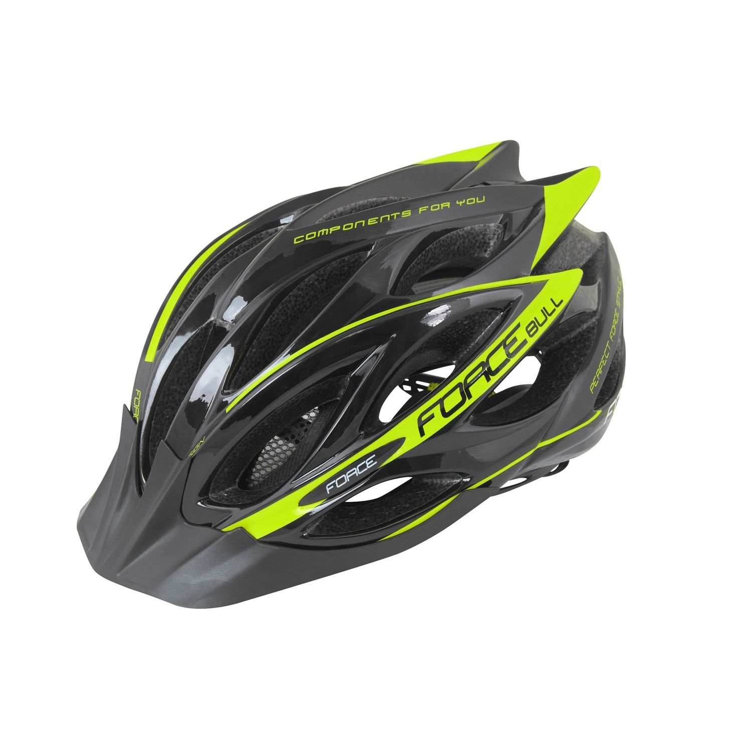 Force BULL cycling helmet black fluo yellow (902925-26). Previous 496bc662b