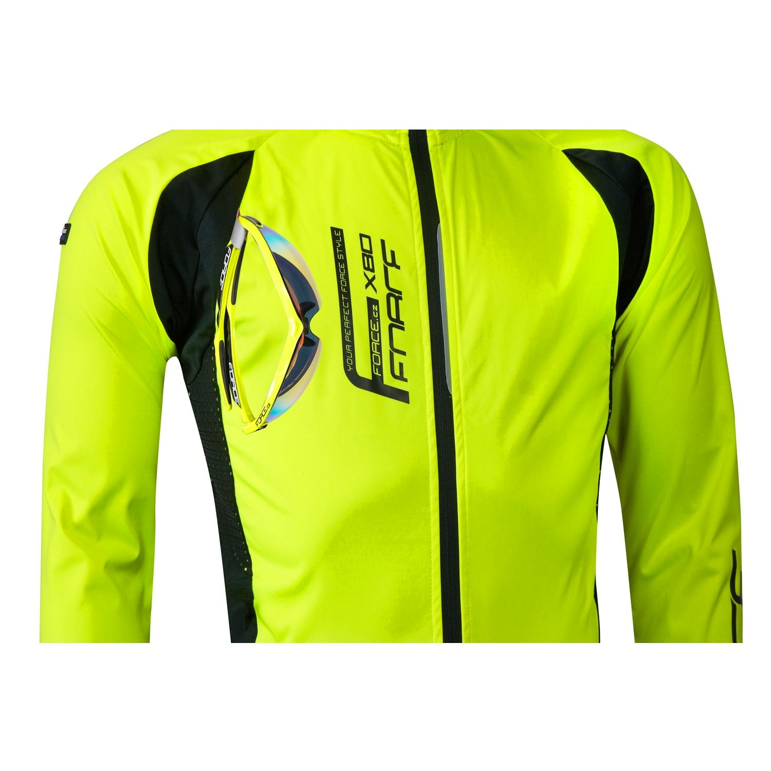 e76d62453 Force X80 Softshell cycling jacket yellow fluo (90006). Next