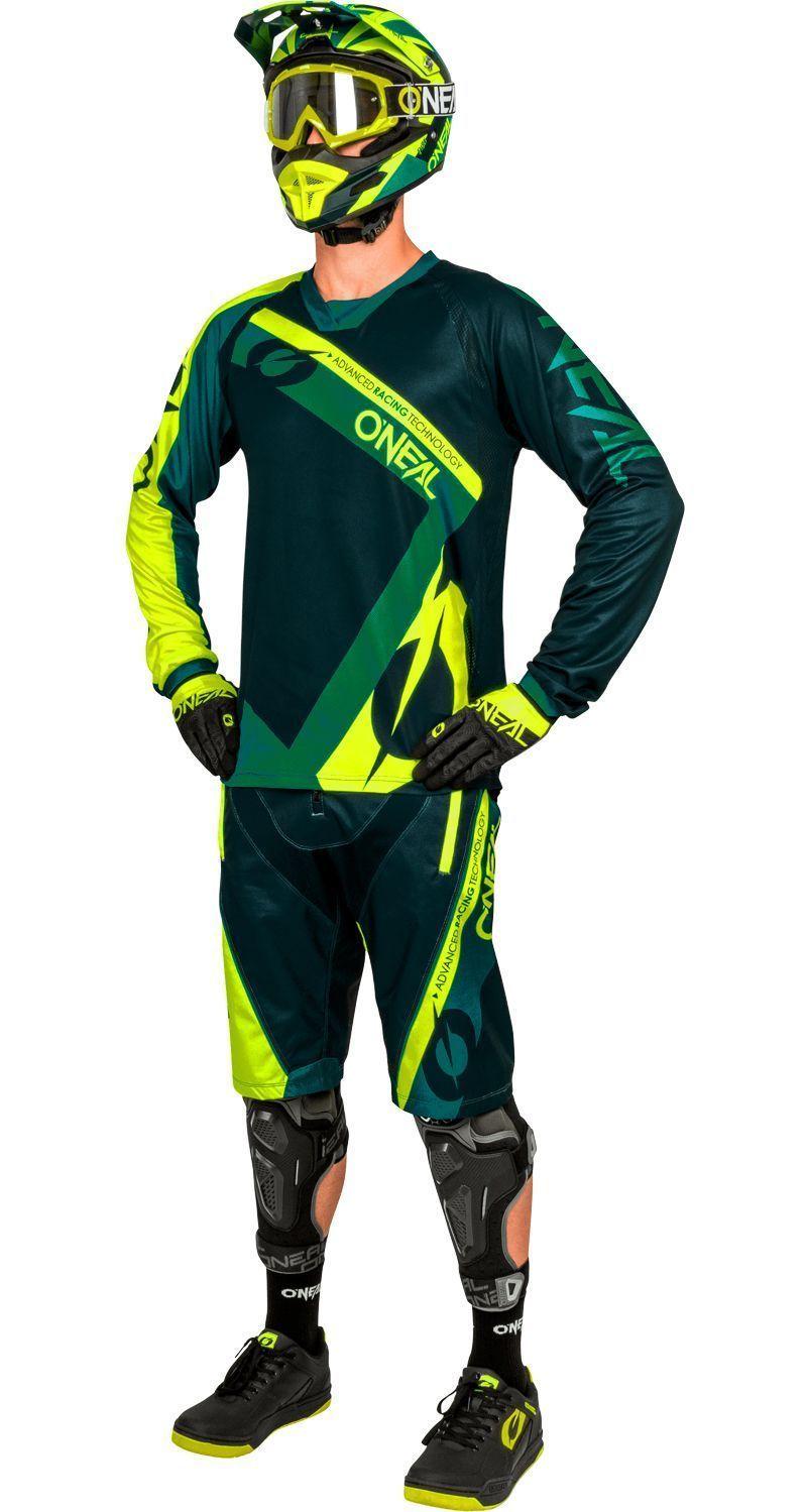 O/'Neal Downhill-Jersey Element FR Hybrid Grün