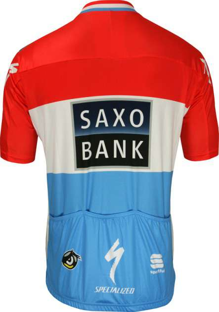 bad256fd1 Saxo Bank 2010 - Luxembourgian Champion Sportful professional cycling team  - tricot (jersey short sleeve. Next