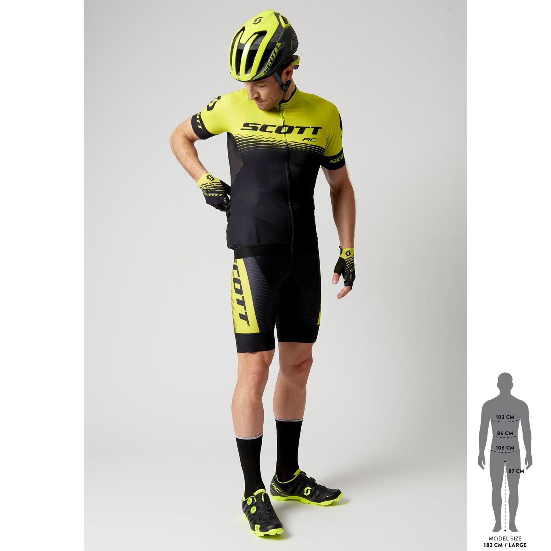 Scott RC PRO short sleeve cycling jersey yellow fluo black (270447). Next cd355f075