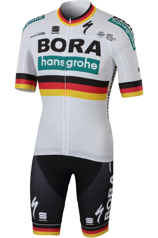 bd2649a37 BORA-hansgrohe german champion 2018 19 short sleeve cycling jersey (long  zip). Next