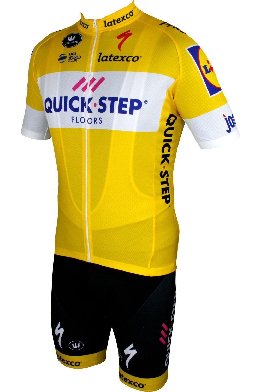 Quick-Step Floors 2018 tour special edition cycling bib shorts yellow -  Vermarc professional cycling. Next 8ec412f2c