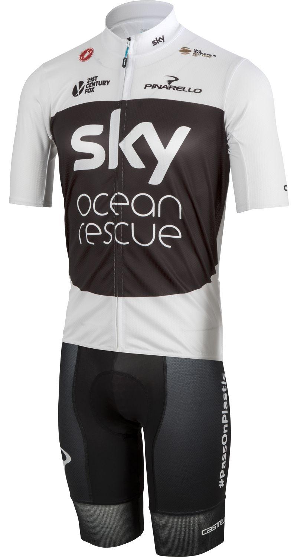 TEAM SKY 2018 PODIO Tour Edition short sleeve cycling jersey (long zip) -  Castelli. Next 38a74d7a8