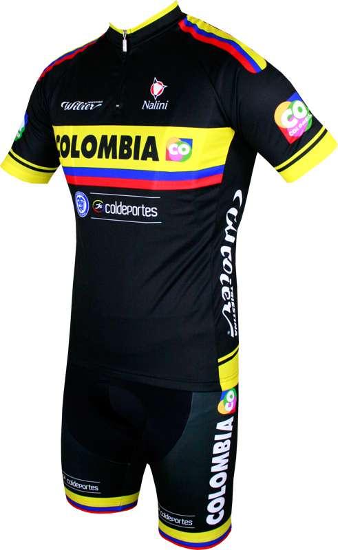 c2ea75b37 COLOMBIA 2015 short sleeve jersey (short zip) - Nalini professional cycling  team. Next