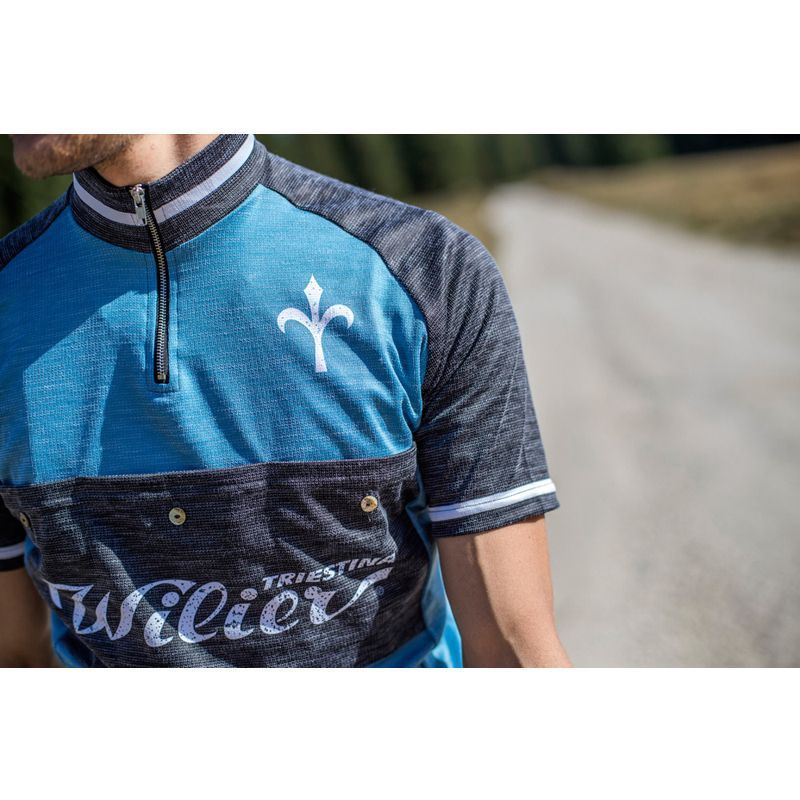 0e14f0e71 Wilier TASCA short sleeve cycling jersey blue gray (WL231). Next