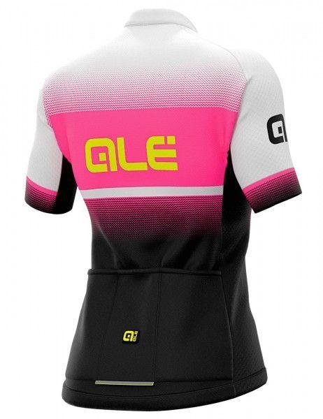 Set de ciclismo mujer (maillot BLEND pink + culotte corto TRAGUARDO negro/blanco) - Ale