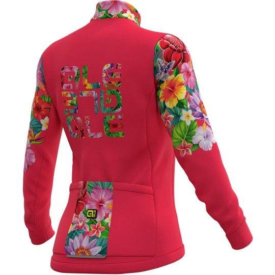 Alé FLOWERS LAB Lady - Damen Radtrikot langarm pink 2