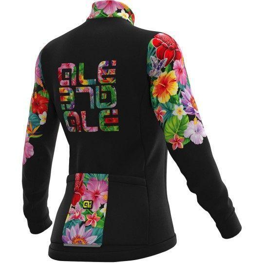 Alé FLOWERS LAB Lady - Damen Radtrikot langarm schwarz 2