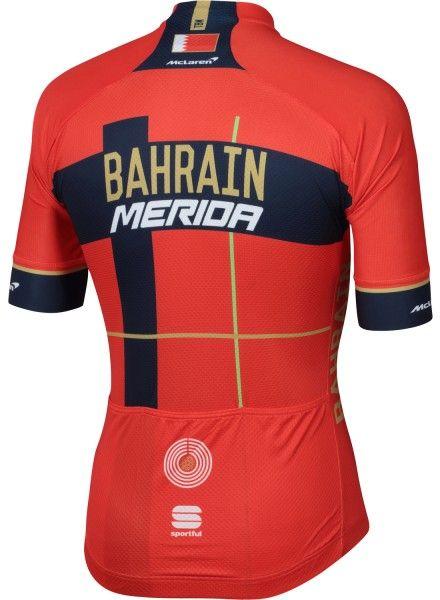 BAHRAIN MERIDA 2019 Radtrikot kurzarm 2