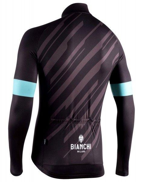 Bianchi Milano Bianzone Fahrrad Langarmtrikot schwarz 2