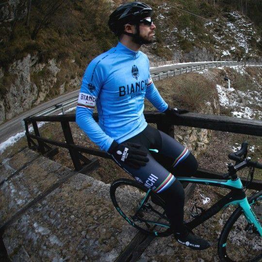 Bianchi Milano Langarmtrikot Leggenda blau 4180 3