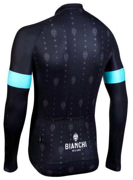 Bianchi Milano Perticara Radtrikot langarm schwarz 3