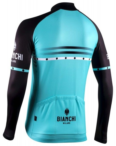 Bianchi Milano Piantedo Fahrrad Langarmtrikot celeste 2