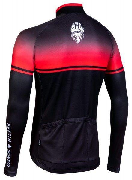 Bianchi Milano Santerno Radtrikot langarm schwarz rot 3