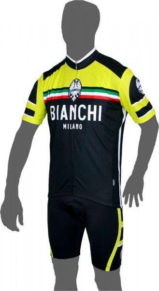 Bianchi Milano CIANCIANA Kurzarmtrikot schwarz/gelb