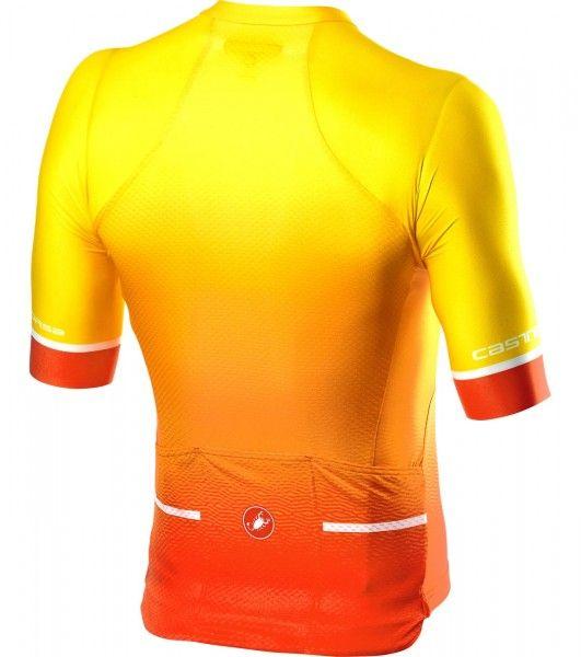 Set de ciclismo FREE AERO RACE TEAM (maillot de manga corta + culotte con tirantes, amarillo/negro) - Castelli