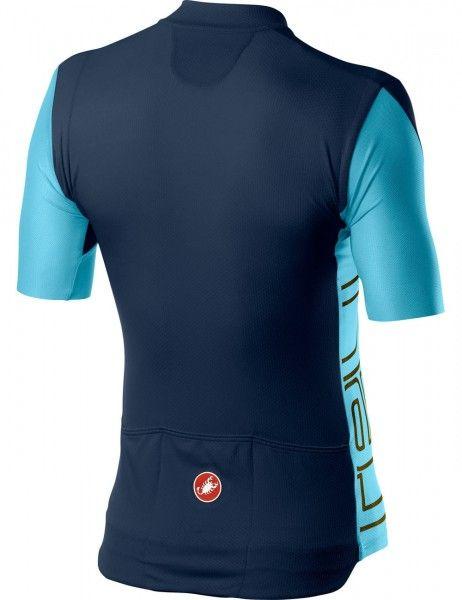 Set de ciclismo ENTRATA (maillot ciclista manga corta + Culotte corto de ciclismo, azul/negro) - Castelli