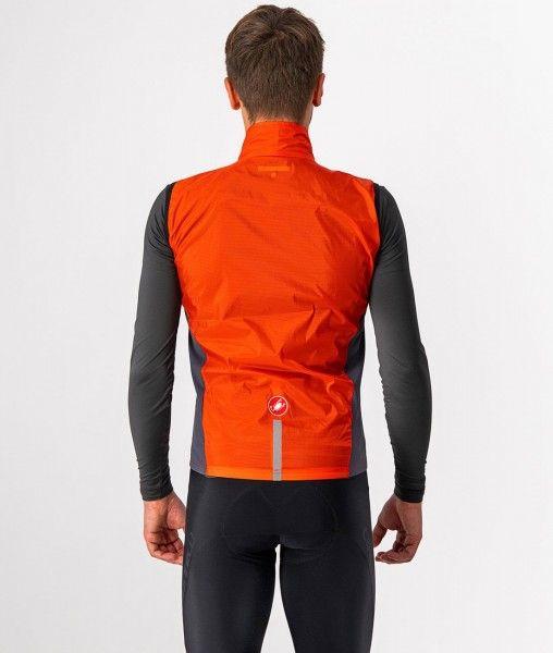 Castelli SQUADRA STRETCH VEST - Fahrradweste orange-rot 3