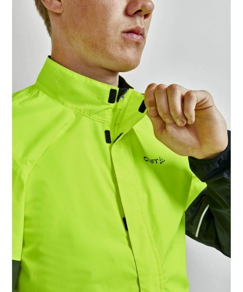 Craft Core Endur Hydro Jacket Fahrrad Regenjacke neongelb 3