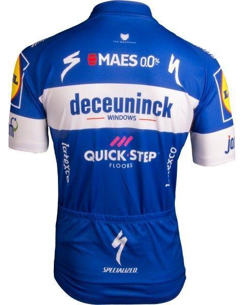 Deceuninck Quick-Step 2019 Radtrikot kurzarm langer RV 3