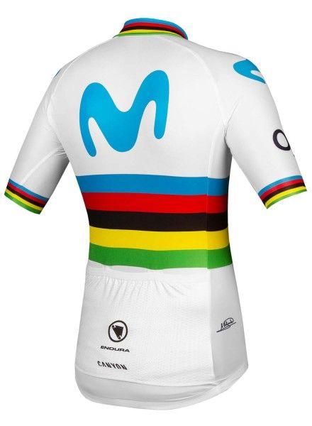 Movistar 2019 Weltmeister Radtrikot kurzarm 2